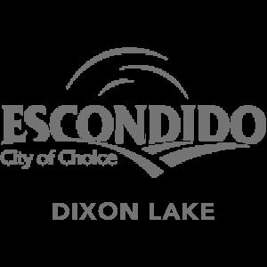 City of Escondido logo, Dixon Lake