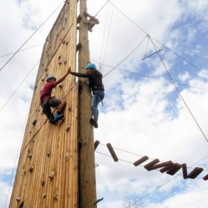 High Ropes course in Santa Barbara with arc Adventure