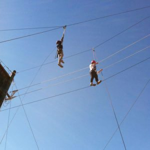 helping groups on the High Ropes - Grand High Course on Costa Rica tour | arc Adventure