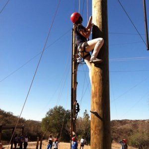 team building high-ropes with Ulysses S. Grant High School | arc Adventure